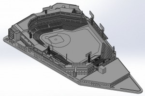 Fenway Park Solid Model