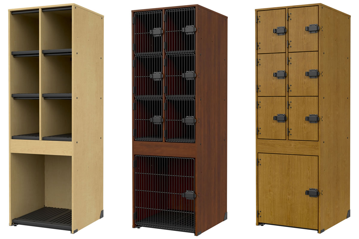 Photorealistic Render Of School Storage Cabinets. Axis CAD Solutions  Created Images In 6 Different Wood Materials From The Clients Models.